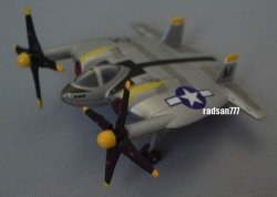 Photo1: TAKARA Amazing weapons of WWII Vought XF5U Flying Flapjack USAAF Fighter TAKARA 1:200