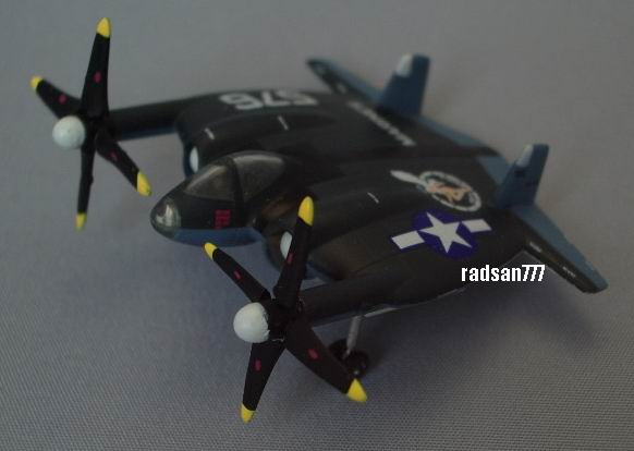 TAKARA Amazing weapons of WWII Vought XF5U Flying Flapjack VMFA-321 Hells  Angels 1:200